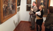 Touring the Ostrobothnian Museum with Deputy Chief of Mission Susan Elbow. (© State Dept.)