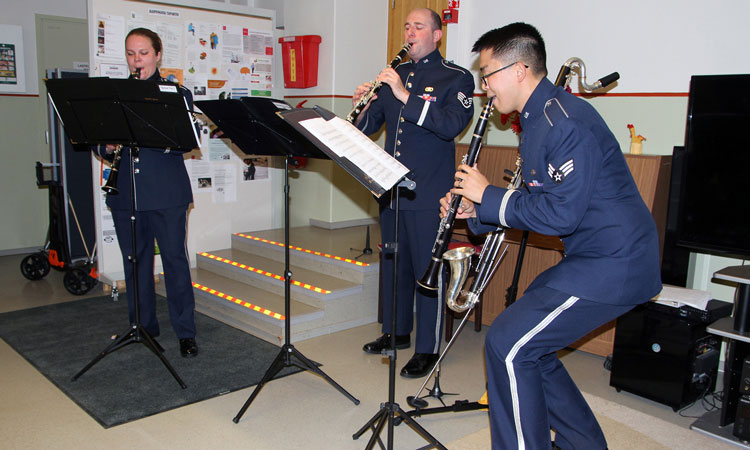 Clarinet Trio playing (© State Dept.)