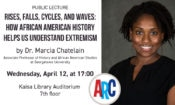 Invitation to public lecture by Dr. Chatelain (© State Dept.)