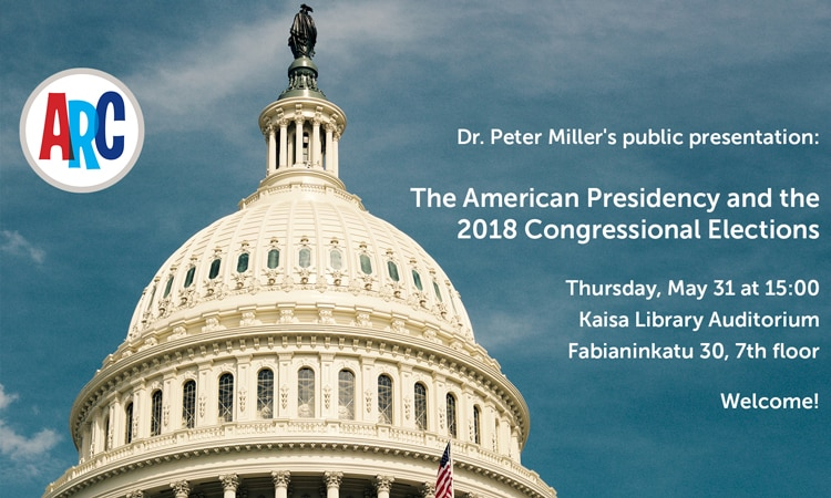 Public Lecture: The American Presidency and the 2018 Congressional Elections