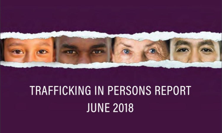 2018 Trafficking in Persons Report cover (© State Dept.)