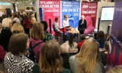 Author Jennifer Clement interviewed by KirjaKallio students at the Helsinki Book Fair 2018 (© State Dept.)